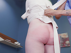 Big-ass brat girl gets punished with cock and man feet Thumbnail