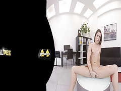 Vany Ully fingers her pussy in this virtual reality scene