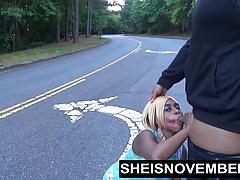 Ebony Teen Babe Blowjob In Street Sloppy Head Msnovember