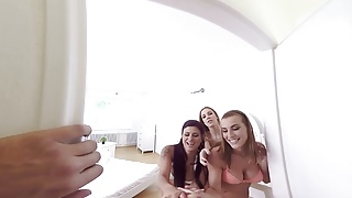 Reality group porn - Badoinkvr.com virtual reality pov teen compilation part 1