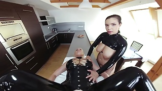 Mistress with Busty Slave
