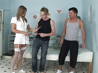 Preview 1 of Rachel survives a severe threesome fucking in a close up shoot