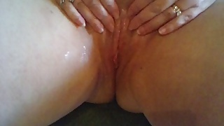 Quickie of cum on my pussy